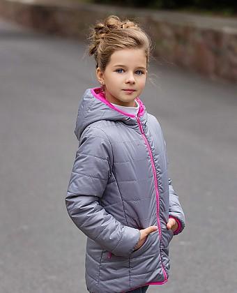 Куртка для девочки (двухсторонняя) П3608А