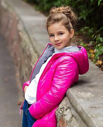 Куртка для девочки (двухсторонняя) П3608